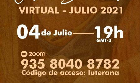 Culto Sinodal Virtual Julio 2021
